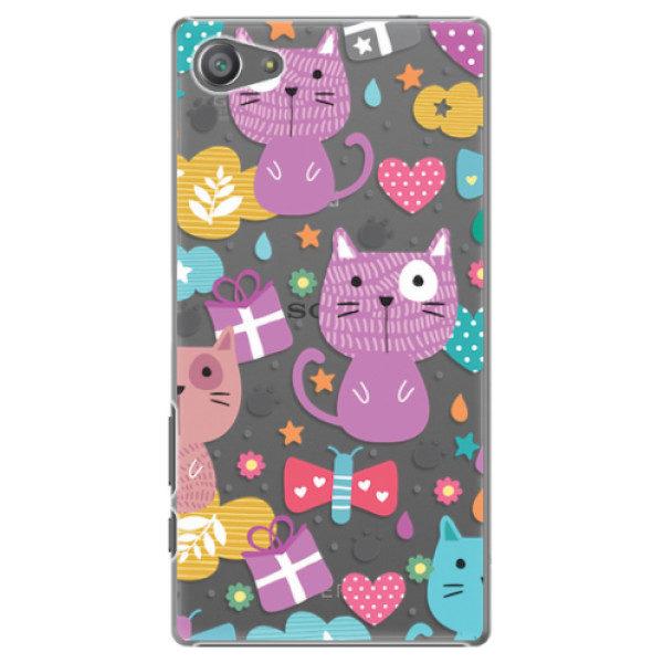 Plastové pouzdro iSaprio – Cat pattern 01 – Sony Xperia Z5 Compact Plastové pouzdro iSaprio – Cat pattern 01 – Sony Xperia Z5 Compact