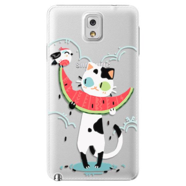 Plastové pouzdro iSaprio – Cat with melon – Samsung Galaxy Note 3 Plastové pouzdro iSaprio – Cat with melon – Samsung Galaxy Note 3