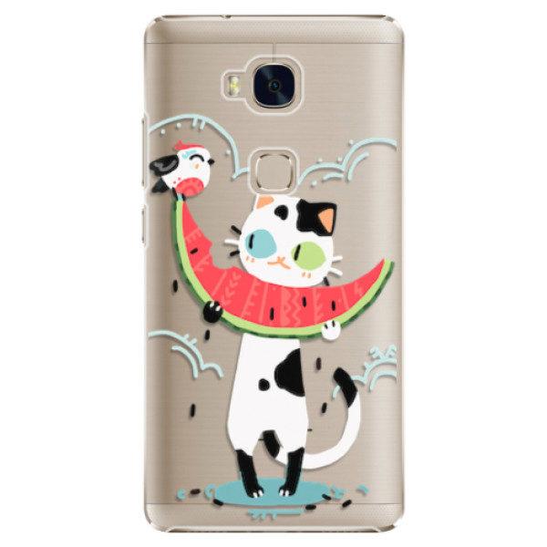 Plastové pouzdro iSaprio – Cat with melon – Huawei Honor 5X Plastové pouzdro iSaprio – Cat with melon – Huawei Honor 5X