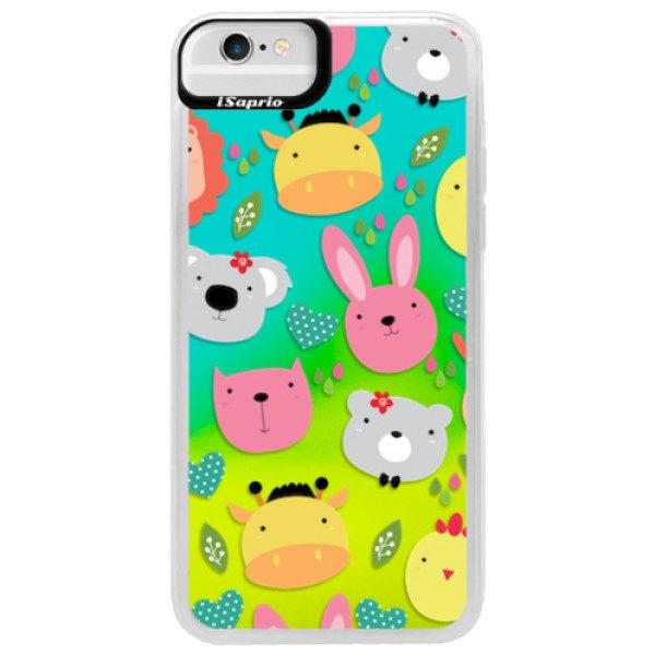Neonové pouzdro Blue iSaprio – Animals 01 – iPhone 6/6S Neonové pouzdro Blue iSaprio – Animals 01 – iPhone 6/6S