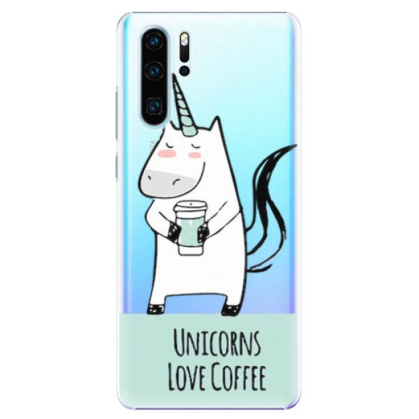 Plastové pouzdro iSaprio – Unicorns Love Coffee – Huawei P30 Pro Plastové pouzdro iSaprio – Unicorns Love Coffee – Huawei P30 Pro