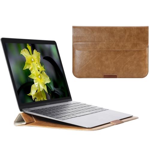 Kožené pouzdro / kryt Rock Stylish pro MacBook Air 11 hnědé Kožené pouzdro / kryt Rock Stylish pro MacBook Air 11 hnědé