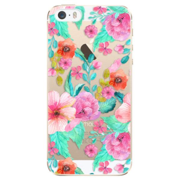 Plastové pouzdro iSaprio – Flower Pattern 01 – iPhone 5/5S/SE Plastové pouzdro iSaprio – Flower Pattern 01 – iPhone 5/5S/SE