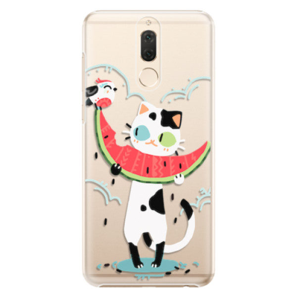 Plastové pouzdro iSaprio – Cat with melon – Huawei Mate 10 Lite Plastové pouzdro iSaprio – Cat with melon – Huawei Mate 10 Lite