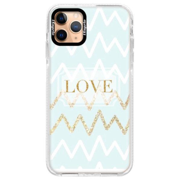 Silikonové pouzdro Bumper iSaprio – GoldLove – iPhone 11 Pro Max Silikonové pouzdro Bumper iSaprio – GoldLove – iPhone 11 Pro Max