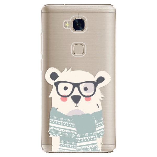 Plastové pouzdro iSaprio – Bear with Scarf – Huawei Honor 5X Plastové pouzdro iSaprio – Bear with Scarf – Huawei Honor 5X