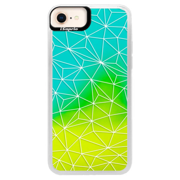 Neonové pouzdro Blue iSaprio – Abstract Triangles 03 – white – iPhone 8 Neonové pouzdro Blue iSaprio – Abstract Triangles 03 – white – iPhone 8