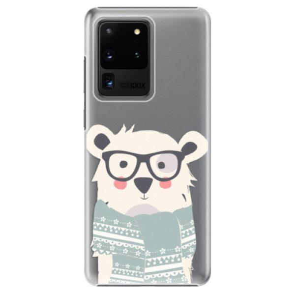 Plastové pouzdro iSaprio – Bear with Scarf – Samsung Galaxy S20 Ultra Plastové pouzdro iSaprio – Bear with Scarf – Samsung Galaxy S20 Ultra