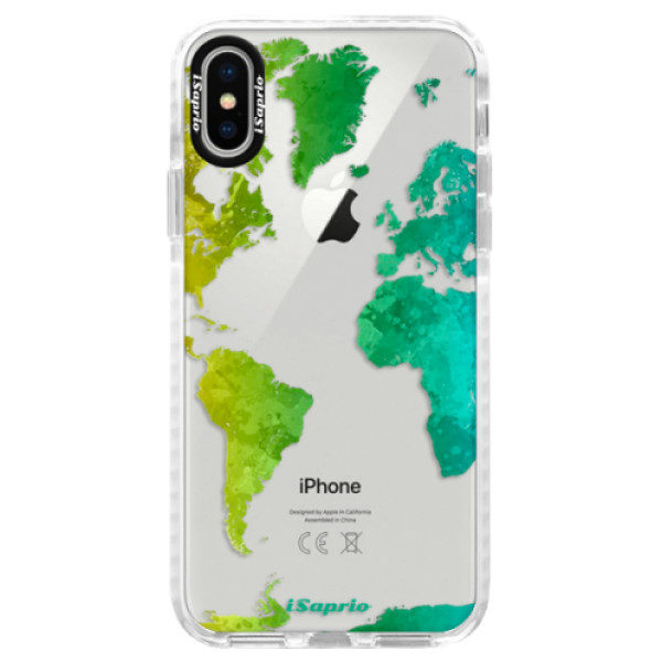 Silikonové pouzdro Bumper iSaprio – Cold Map – iPhone X Silikonové pouzdro Bumper iSaprio – Cold Map – iPhone X