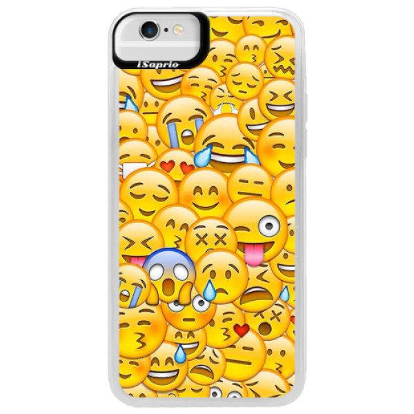 Neonové pouzdro Blue iSaprio – Emoji – iPhone 6/6S Neonové pouzdro Blue iSaprio – Emoji – iPhone 6/6S