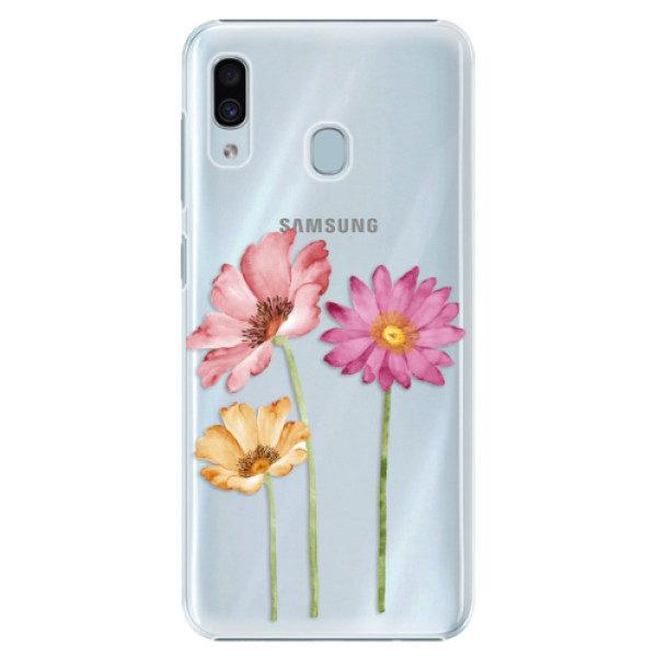 Plastové pouzdro iSaprio – Three Flowers – Samsung Galaxy A20 Plastové pouzdro iSaprio – Three Flowers – Samsung Galaxy A20