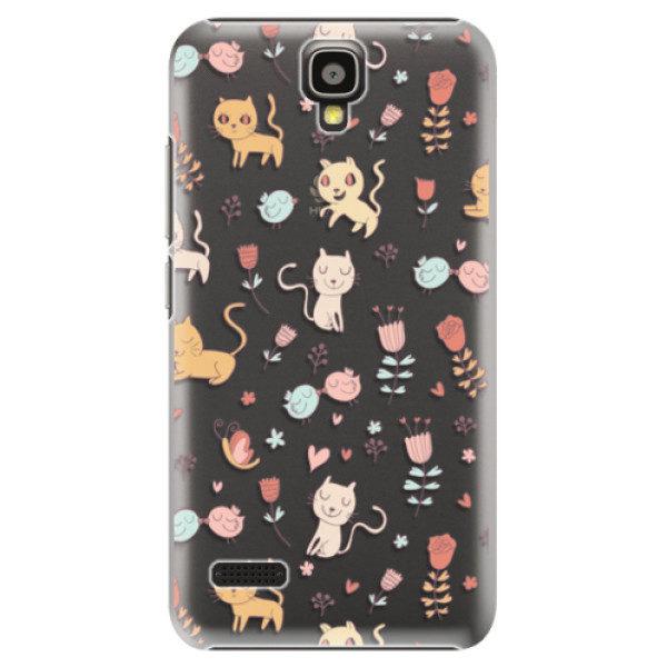 Plastové pouzdro iSaprio – Cat pattern 02 – Huawei Ascend Y5 Plastové pouzdro iSaprio – Cat pattern 02 – Huawei Ascend Y5