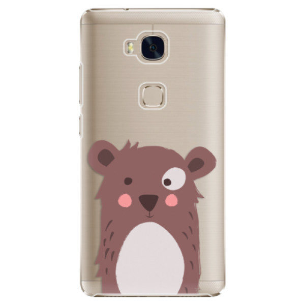 Plastové pouzdro iSaprio – Brown Bear – Huawei Honor 5X Plastové pouzdro iSaprio – Brown Bear – Huawei Honor 5X