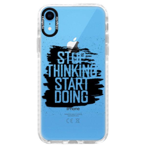 Silikonové pouzdro Bumper iSaprio – Start Doing – black – iPhone XR Silikonové pouzdro Bumper iSaprio – Start Doing – black – iPhone XR
