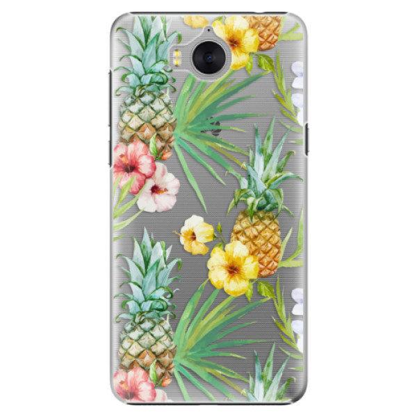 Plastové pouzdro iSaprio – Pineapple Pattern 02 – Huawei Y5 2017 / Y6 2017 Plastové pouzdro iSaprio – Pineapple Pattern 02 – Huawei Y5 2017 / Y6 2017