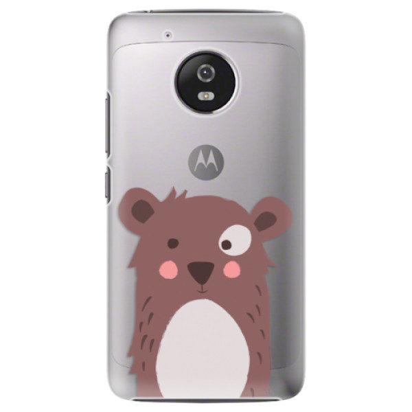 Plastové pouzdro iSaprio – Brown Bear – Lenovo Moto G5 Plastové pouzdro iSaprio – Brown Bear – Lenovo Moto G5