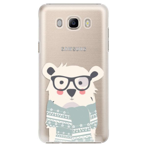 Plastové pouzdro iSaprio – Bear with Scarf – Samsung Galaxy J7 2016 Plastové pouzdro iSaprio – Bear with Scarf – Samsung Galaxy J7 2016