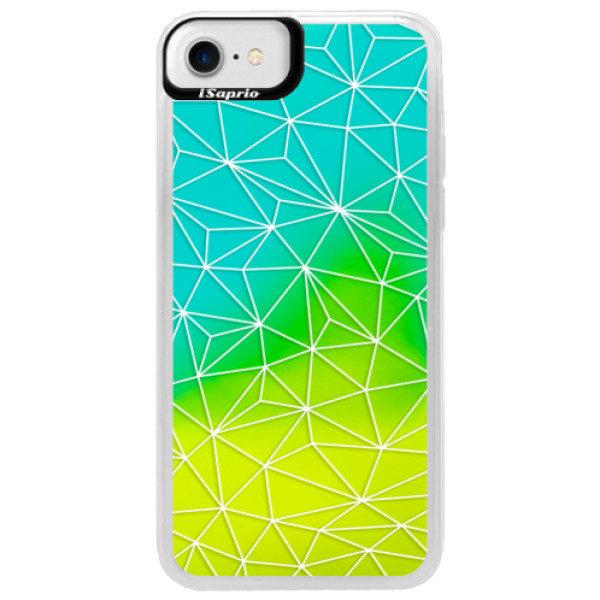 Neonové pouzdro Blue iSaprio – Abstract Triangles 03 – white – iPhone 7 Neonové pouzdro Blue iSaprio – Abstract Triangles 03 – white – iPhone 7
