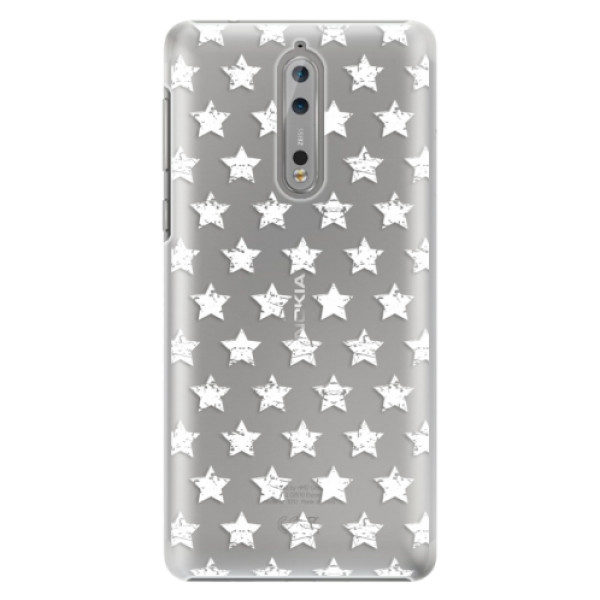 Plastové pouzdro iSaprio – Stars Pattern – white – Nokia 8 Plastové pouzdro iSaprio – Stars Pattern – white – Nokia 8