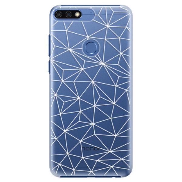 Plastové pouzdro iSaprio – Abstract Triangles 03 – white – Huawei Honor 7C Plastové pouzdro iSaprio – Abstract Triangles 03 – white – Huawei Honor 7C