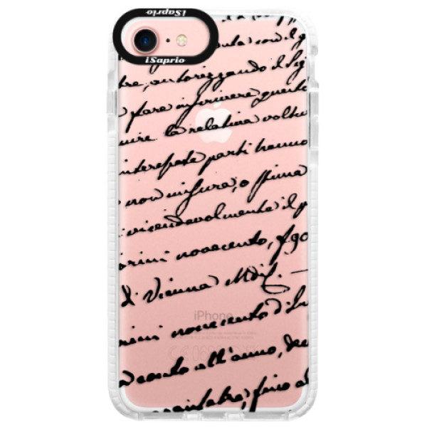Silikonové pouzdro Bumper iSaprio – Handwriting 01 – black – iPhone 7 Silikonové pouzdro Bumper iSaprio – Handwriting 01 – black – iPhone 7