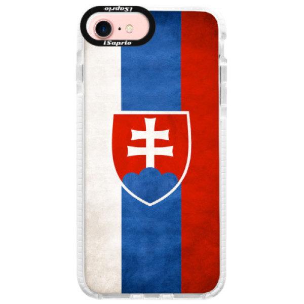 Silikonové pouzdro Bumper iSaprio – Slovakia Flag – iPhone 7 Silikonové pouzdro Bumper iSaprio – Slovakia Flag – iPhone 7