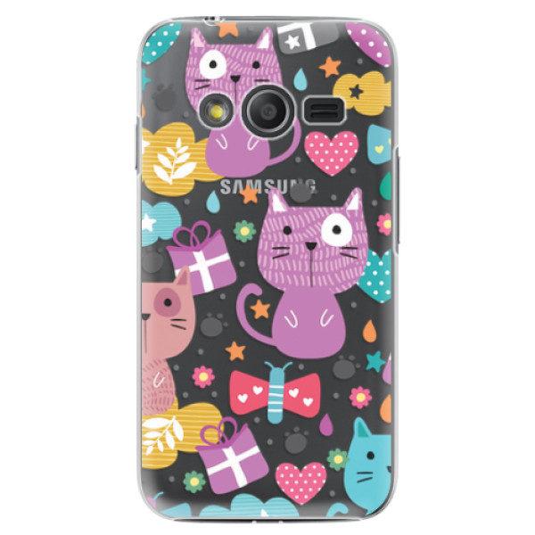 Plastové pouzdro iSaprio – Cat pattern 01 – Samsung Galaxy Trend 2 Lite Plastové pouzdro iSaprio – Cat pattern 01 – Samsung Galaxy Trend 2 Lite