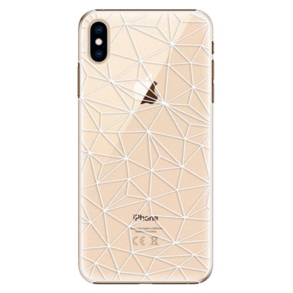 Plastové pouzdro iSaprio – Abstract Triangles 03 – white – iPhone XS Max Plastové pouzdro iSaprio – Abstract Triangles 03 – white – iPhone XS Max