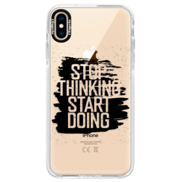 Silikonové pouzdro Bumper iSaprio – Start Doing – black – iPhone XS Max Silikonové pouzdro Bumper iSaprio – Start Doing – black – iPhone XS Max