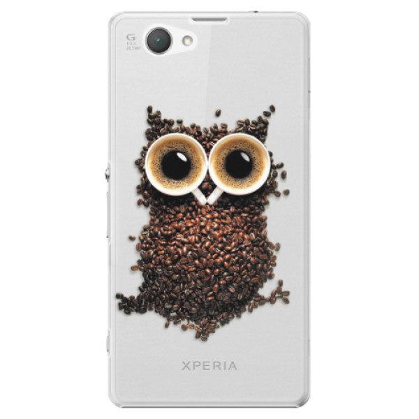 Plastové pouzdro iSaprio – Owl And Coffee – Sony Xperia Z1 Compact Plastové pouzdro iSaprio – Owl And Coffee – Sony Xperia Z1 Compact