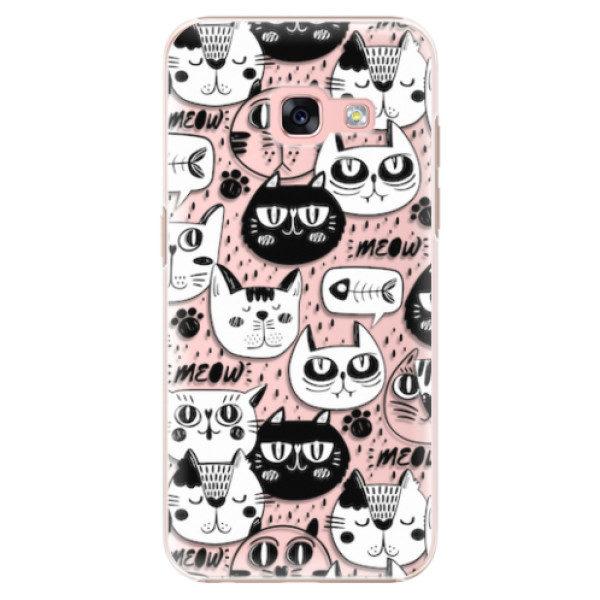Plastové pouzdro iSaprio – Cat pattern 03 – Samsung Galaxy A3 2017 Plastové pouzdro iSaprio – Cat pattern 03 – Samsung Galaxy A3 2017