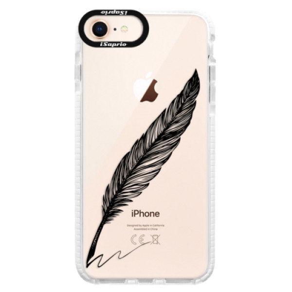 Silikonové pouzdro Bumper iSaprio – Writing By Feather – black – iPhone 8 Silikonové pouzdro Bumper iSaprio – Writing By Feather – black – iPhone 8