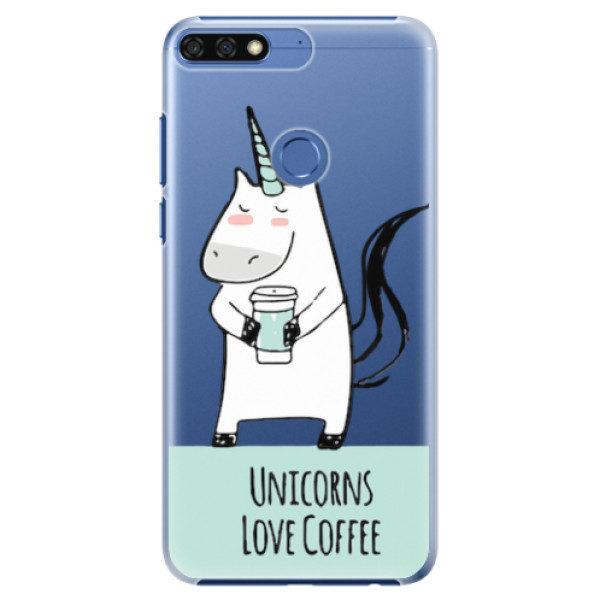 Plastové pouzdro iSaprio – Unicorns Love Coffee – Huawei Honor 7C Plastové pouzdro iSaprio – Unicorns Love Coffee – Huawei Honor 7C