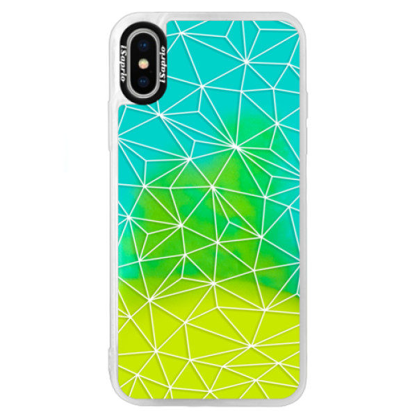 Neonové pouzdro Blue iSaprio – Abstract Triangles 03 – white – iPhone X Neonové pouzdro Blue iSaprio – Abstract Triangles 03 – white – iPhone X