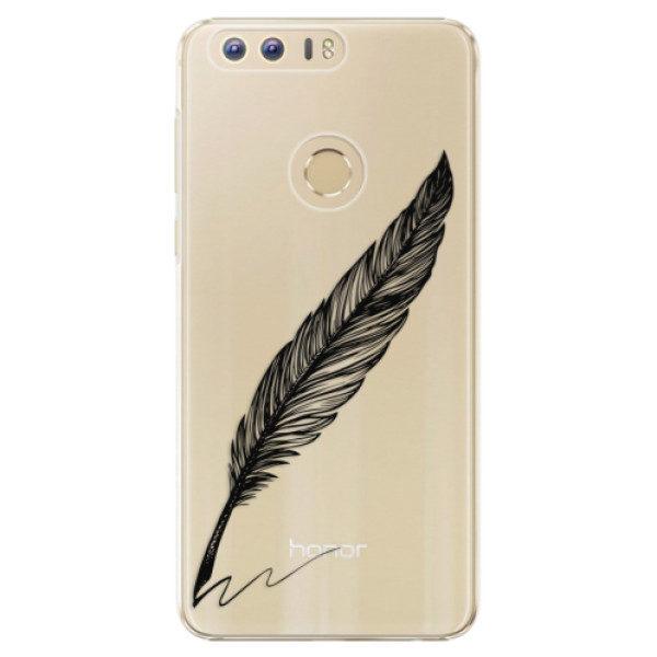 Plastové pouzdro iSaprio – Writing By Feather – black – Huawei Honor 8 Plastové pouzdro iSaprio – Writing By Feather – black – Huawei Honor 8