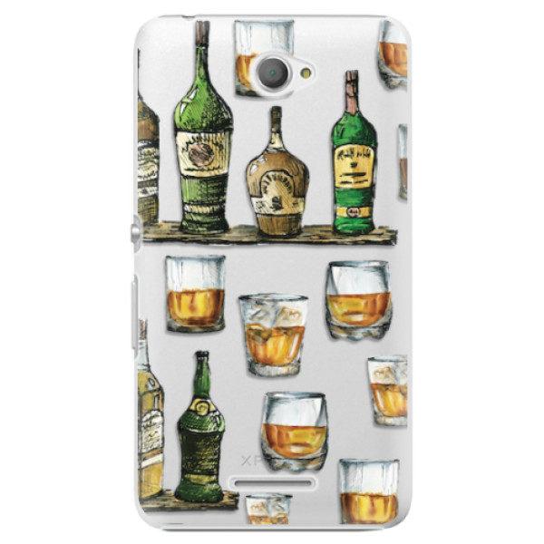Plastové pouzdro iSaprio – Whisky pattern – Sony Xperia E4 Plastové pouzdro iSaprio – Whisky pattern – Sony Xperia E4