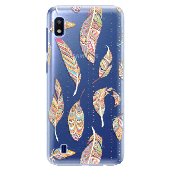 Plastové pouzdro iSaprio – Feather pattern 02 – Samsung Galaxy A10 Plastové pouzdro iSaprio – Feather pattern 02 – Samsung Galaxy A10