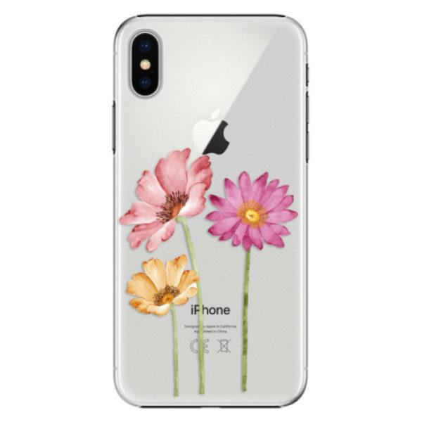 Plastové pouzdro iSaprio – Three Flowers – iPhone X Plastové pouzdro iSaprio – Three Flowers – iPhone X