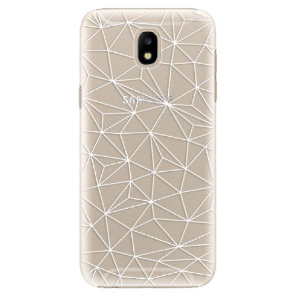 Plastové pouzdro iSaprio – Abstract Triangles 03 – white – Samsung Galaxy J5 2017 Plastové pouzdro iSaprio – Abstract Triangles 03 – white – Samsung Galaxy J5 2017