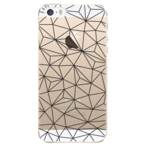 Plastové pouzdro iSaprio – Abstract Triangles 03 – black – iPhone 5/5S/SE Plastové pouzdro iSaprio – Abstract Triangles 03 – black – iPhone 5/5S/SE