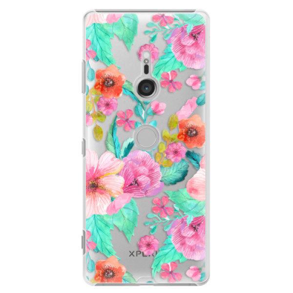 Plastové pouzdro iSaprio – Flower Pattern 01 – Sony Xperia XZ3 Plastové pouzdro iSaprio – Flower Pattern 01 – Sony Xperia XZ3