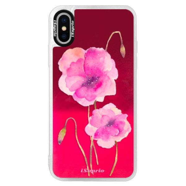 Neonové pouzdro Pink iSaprio – Poppies 02 – iPhone X Neonové pouzdro Pink iSaprio – Poppies 02 – iPhone X