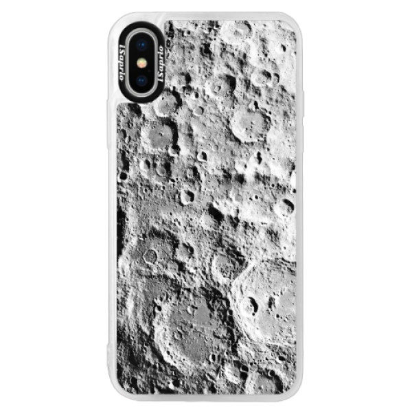 Neonové pouzdro Pink iSaprio – Moon Surface – iPhone XS Neonové pouzdro Pink iSaprio – Moon Surface – iPhone XS