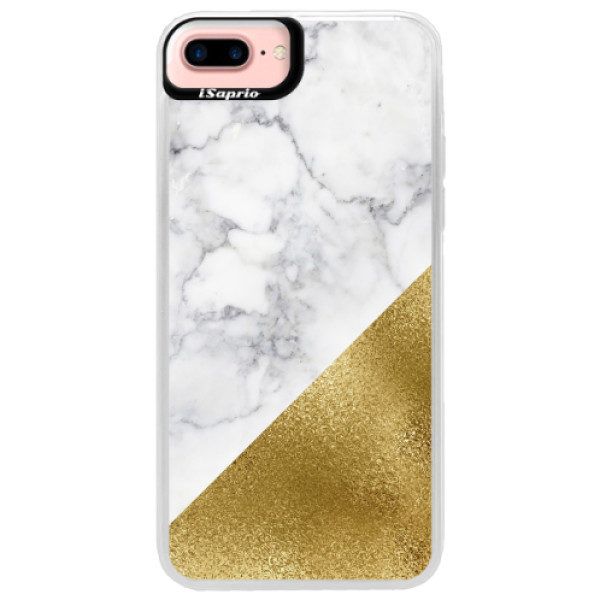 Neonové pouzdro Pink iSaprio – Gold and WH Marble – iPhone 7 Plus Neonové pouzdro Pink iSaprio – Gold and WH Marble – iPhone 7 Plus