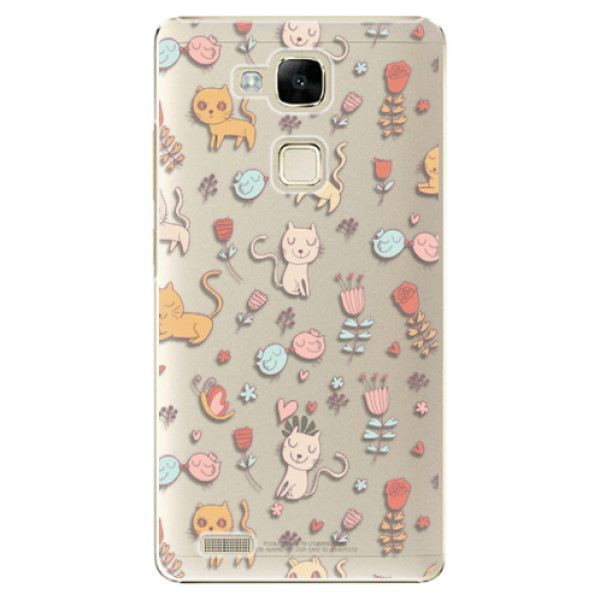 Plastové pouzdro iSaprio – Cat pattern 02 – Huawei Ascend Mate7 Plastové pouzdro iSaprio – Cat pattern 02 – Huawei Ascend Mate7