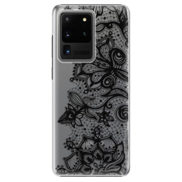 Plastové pouzdro iSaprio – Black Lace – Samsung Galaxy S20 Ultra Plastové pouzdro iSaprio – Black Lace – Samsung Galaxy S20 Ultra