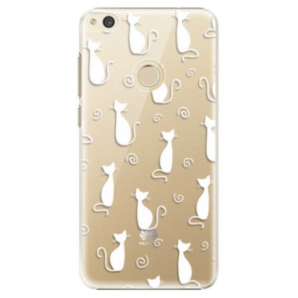 Plastové pouzdro iSaprio – Cat pattern 05 – white – Huawei P8 Lite 2017 Plastové pouzdro iSaprio – Cat pattern 05 – white – Huawei P8 Lite 2017