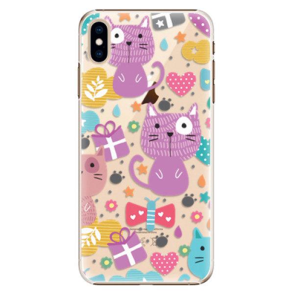 Plastové pouzdro iSaprio – Cat pattern 01 – iPhone XS Max Plastové pouzdro iSaprio – Cat pattern 01 – iPhone XS Max