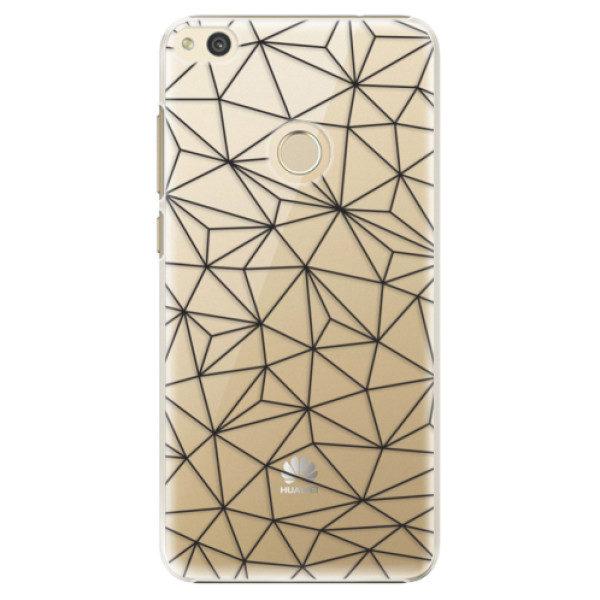 Plastové pouzdro iSaprio – Abstract Triangles 03 – black – Huawei P8 Lite 2017 Plastové pouzdro iSaprio – Abstract Triangles 03 – black – Huawei P8 Lite 2017