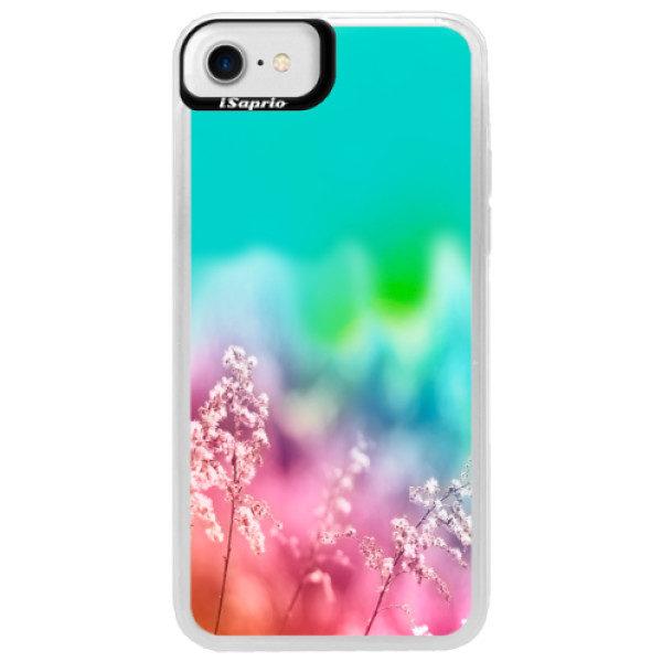 Neonové pouzdro Blue iSaprio – Rainbow Grass – iPhone 7 Neonové pouzdro Blue iSaprio – Rainbow Grass – iPhone 7